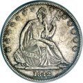 Seated Half Dollars, 1842-O 50C Small Date, Small Letters--Cleaned--ANACS. XF45Details....