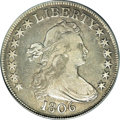 Early Half Dollars, 1806 50C Pointed 6, Stem--Cleaned--ANACS. Fine 15 Details....
