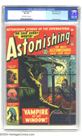 Golden Age (1938-1955):Horror, Astonishing #18 White Mountain pedigree (Atlas, 1952) CGC VF 8.0Off-white to white pages. Classic Golden Age artist Bill Ev...