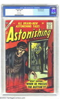 Silver Age (1956-1969):Horror, Astonishing #60 White Mountain pedigree(Atlas, 1957) CGC VF+ 8.5Off-white pages. Bill Everett cover. Interior artists inclu...