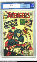 Silver Age (1956-1969):Superhero, The Avengers #4 (Marvel, 1964) CGC FN- 5.5 Cream to off-white pages. First Silver Age appearance of Captain America. Jack Ki...