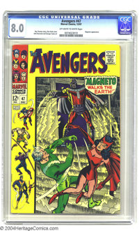 The Avengers #47 (Marvel, 1967) CGC VF 8.0 Off-white to white pages. Don Heck cover. John Buscema and George Tuska art...