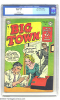 Golden Age (1938-1955):Crime, Big Town #24 Mile High pedigree (DC, 1953) CGC FN/VF 7.0 Off-white pages. Art by Dan Barry. Another nice book from the Mile ...