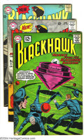 Silver Age (1956-1969):Adventure, Blackhawk Group (DC, 1962-68) Condition: Average FN/VF. Four issues in this lot, including #168, 197, 198, and 242. New cost... (Total: 4 Comic Books Item)