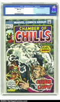 Bronze Age (1970-1979):Horror, Chamber of Chills #4 (Marvel, 1973) CGC NM 9.4 White pages. FrankBrunner cover and art. Overstreet 2003 NM 9.4 value = $16....