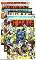 Bronze Age (1970-1979):Superhero, The Champions Group (Marvel, 1976-77) Condition: Average VF+.Issues #2-5, 7 (two copies), 8 (two copies), 9, and 10. Art by...(Total: 10 Comic Books Item)