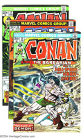 Bronze Age (1970-1979):Miscellaneous, Conan the Barbarian Group (Marvel, 1973-74) Condition: Average VF+.Fourteen issues in this lot including #34-37 and 40-49. ... (Total:14 Comic Books Item)