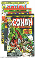 Bronze Age (1970-1979):Miscellaneous, Conan the Barbarian #50-59 Group (Marvel, 1975-76) Condition:Average VF+. Ten issues in this lot, #50-59. Second Belit appe...(Total: 10 Comic Books Item)