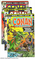 Bronze Age (1970-1979):Miscellaneous, Conan the Barbarian #60-79 Group (Marvel, 1976-77) Condition:Average VF+. Twenty issues in the lot include #60-79. John Bus...(Total: 20 Comic Books Item)