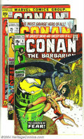 Bronze Age (1970-1979):Miscellaneous, Conan the Barbarian #9-13 Group (Marvel, 1971-72) Condition:Average VG. Barry Smith covers and art. Subscription creases, o...(Total: 5 Comic Books Item)