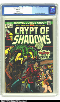 Crypt of Shadows #2 (Marvel, 1973) CGC NM 9.4 White pages. Jim Starlin, Bill Everett cover. Highest graded CGC copy to d...