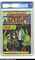 Bronze Age (1970-1979):Horror, Dead of Night #2 (Marvel, 1974) CGC NM 9.4 White pages. Overstreet2003 NM 9.4 value = $14. ...