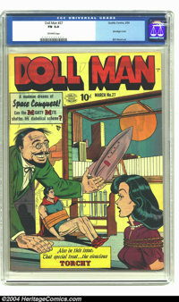 Doll Man #27 (Quality, 1950) CGC FN 6.0 Off-white pages. Bondage cover. Bill Ward art. Overstreet 2003 FN 6.0 value = $1...