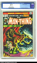 Bronze Age (1970-1979):Horror, Fear #15 (Marvel, 1973) CGC NM 9.4 Off-white to white pages.Brunner cover, Mayerik art. First full length Man-Thing story. ...