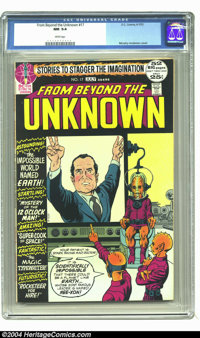 From Beyond the Unknown #17 (DC, 1972) CGC NM 9.4 White pages. President Nixon cover by Murphy Anderson. Overstreet 2003...