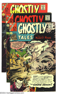 Ghostly Tales/Ghost Manor Group (Charlton, 1967-69) Condition: Average FN-. This lot consists of Ghostly Tales #59, 60...