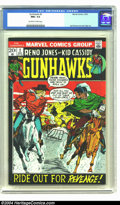 Bronze Age (1970-1979):Western, Gunhawks #2 (Marvel, 1972) CGC NM+ 9.6 Off-white to white pages. Fantastic copy of this Marvel western; currently this is th...