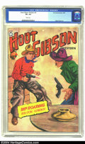 Golden Age (1938-1955):Western, Hoot Gibson Western #3 (Fox, 1950) CGC VF+ 8.5 White pages. Painted cover. Wally Wood art. Highest grade yet certified by CG...