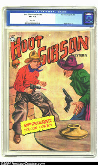 Hoot Gibson Western #3 (Fox, 1950) CGC VF+ 8.5 White pages. Painted cover. Wally Wood art. Highest grade yet certified b...