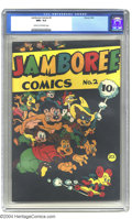Golden Age (1938-1955):Funny Animal, Jamboree Comics #2 (Round, 1946) CGC NM+ 9.6 Cream to off-whitepages. This book features funny animal comics, with a wonder...