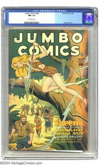 Jumbo Comics #89 (Fiction House, 1946) CGC NM- 9.2 Off-white pages. Matt Baker and Jack Kamen provide interior artwork...