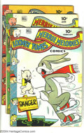 Golden Age (1938-1955):Cartoon Character, Looney Tunes and Merrie Melodies Comics Group (Dell, 1944-46)Condition: Average GD. Issues #28, 32, 35, 43, 48, 52, 53, 55,...(Total: 9 Comic Books Item)