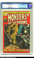 Bronze Age (1970-1979):Horror, Monsters on the Prowl #15 (Marvel, 1972) CGC NM 9.4 Off-white towhite pages. John Severin cover. Syd Shores and Jack Kirby ...