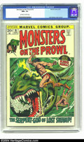 Bronze Age (1970-1979):Horror, Monsters on the Prowl #16 (Marvel, 1972) CGC NM+ 9.6 Off-white towhite pages. John Severin cover. Severin, Kirby, and Ditko...
