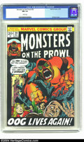 Bronze Age (1970-1979):Horror, Monsters on the Prowl #20 (Marvel, 1972) CGC NM 9.4 White pages.Gil Kane cover. Kirby/Ditko art. Highest-graded copy of thi...