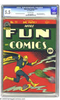 Golden Age (1938-1955):Superhero, More Fun Comics #71 (DC, 1941) CGC FN- 5.5 Off-white pages. Originand first appearance of Johnny Quick. Classic Dr. Fate co...
