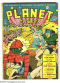 Golden Age (1938-1955):Science Fiction, Planet Comics #8 (Fiction House, 1940) Condition: VG-. Robot cover.A few small pieces of tape, cover detached top staple, s...