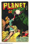 Golden Age (1938-1955):Science Fiction, Planet Comics #47 (Fiction House, 1947) Condition: Apparent GD.George Evans art. Color touch with bleed through, lots of ta...