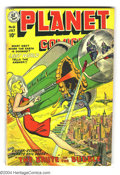 Golden Age (1938-1955):Science Fiction, Planet Comics #61 (Fiction House, 1949) Condition: VG+. GeorgeEvans, Graham Ingels art. Small piece of tape at top staple. ...