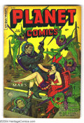 Golden Age (1938-1955):Science Fiction, Planet Comics #69 (Fiction House, 1952) Condition: VG-. Used inParade of Pleasure, pages 101, 102. Tape along spine. Ov...