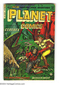 Golden Age (1938-1955):Science Fiction, Planet Comics #73 (Fiction House, 1953) Condition: Apparent GD+.Last issue. Color touch and tape on cover. Overstreet 2003 ...