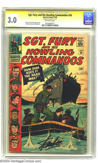 Sgt. Fury and His Howling Commandos #26 (Marvel, 1966) CGC GD/VG 3.0 Off-white pages. Signature Series. Stan Lee story w...