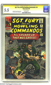 Sgt. Fury and His Howling Commandos #33 (Marvel, 1966) CGC FN- 5.5 Off-white pages. Signature Series. Roy Thomas story...