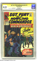 Silver Age (1956-1969):War, Sgt. Fury and His Howling Commandos #35 (Marvel, 1966) CGC VG 4.0 Off-white pages. Signature Series. Eric Koenig joins the H...