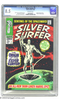 Silver Age (1956-1969):Superhero, The Silver Surfer #1 (Marvel, 1968) CGC VF+ 8.5 Off-white pages. Origin of the Silver Surfer. Art by John Buscema, Gene Cola...