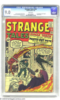 Silver Age (1956-1969):Superhero, Strange Tales #104 (Marvel, 1963) CGC VF/NM 9.0 White pages. First appearance of the Trapster (Paste-Pot Pete). Art by Jack ...