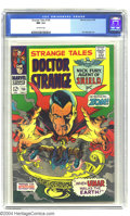 Silver Age (1956-1969):Horror, Strange Tales #156 (Marvel, 1967) CGC NM 9.4 Off-white pages. JohnSeverin renders a terrific cover of the master of the mys...