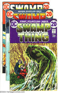Bronze Age (1970-1979):Horror, Swamp Thing Group (DC, 1972-74) Condition: Average VG. This lotconsists of issues #1-5, 7, and 10. Bernie Wrightson art. Ov...(Total: 7 Comic Books Item)