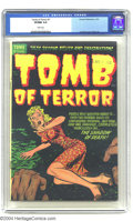 Golden Age (1938-1955):Horror, Tomb of Terror #7 (Harvey, 1953) CGC VF/NM 9.0 White pages. LeeElias cover; interior art by Warren Kremer and Rudy Palais. ...