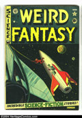 Golden Age (1938-1955):Science Fiction, Weird Fantasy #9 (EC, 1951) Condition: FN. Al Feldstein cover.Wally Wood, Jack Kamen, and Joe Orlando art. Overstreet 2003 ...