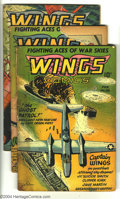Golden Age (1938-1955):War, Wings Comics Group (Fiction House, 1941) Condition: Average GD.Issues #66 (Ghost Patrol begins), 67 (missing piece off cove...(Total: 3 Comic Books Item)