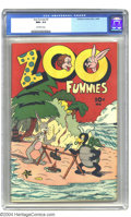 "Golden Age (1938-1955):Funny Animal, Zoo Funnies #2 (Children's Comics Publications, 1945) CGC NM+ 9.6Off-white pages. Gerber rates this an ""uncommon"" issue, bu..."
