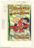 Original Comic Art:Miscellaneous, Color Guide for Richie Rich and Jackie Jokers #25 Cover (Harvey,1970s). This is the actual hand-painted (watercolors and cr...