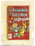 Original Comic Art:Miscellaneous, Color Guide for Richie Rich and Gloria #18 Cover (Harvey, 1970s).This is the actual hand-painted (watercolors) color guide ...