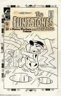 Original Comic Art:Covers, Ray Dirgo - Original Cover Art for The Flintstones #21 (Charlton,1972). You'll get a charge out of this cover by Ray Dirgo....