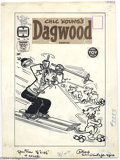 Original Comic Art:Covers, Paul Fung, Jr. (attributed) - Original Cover Art for Dagwood #109(Harvey, 1959). Although they lack opposable thumbs, Daisy...